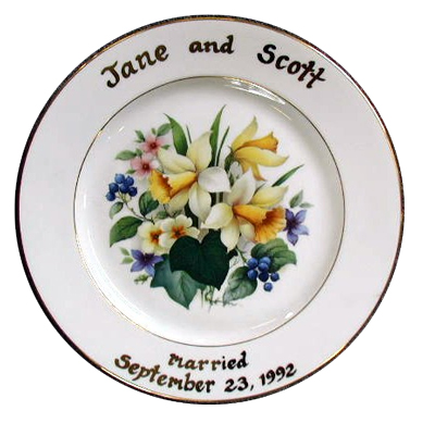 Sheffield pottery birth wedding anniversary and family tree plates family tree platter wedding gift anniversary plates negle Images