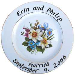 Wedding Gift Personalized Plate